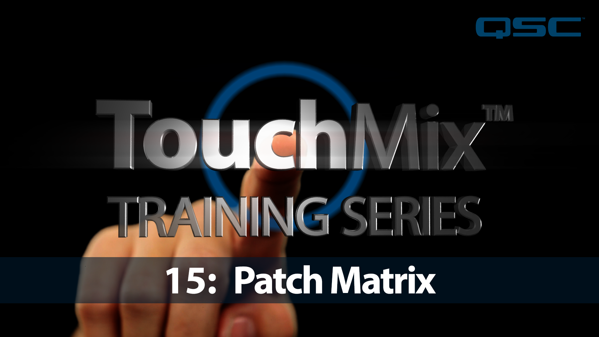 TouchMix Training